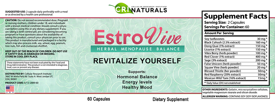 Estrovive Ingredients and Product Information